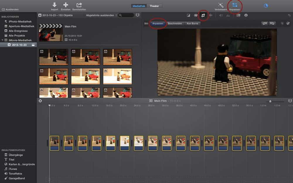 Stop Motion Apple iMovie