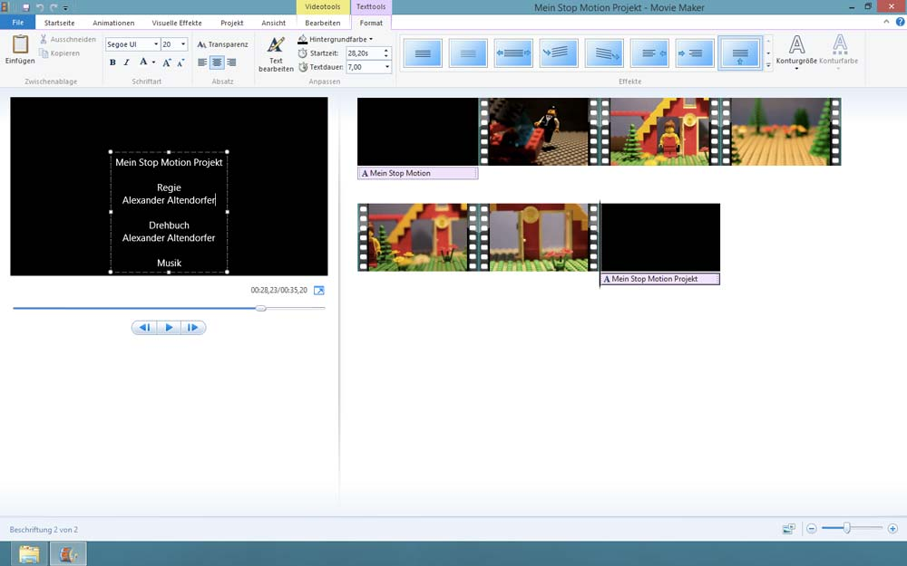 Stop Motion Microsoft Windows Movie Maker Software
