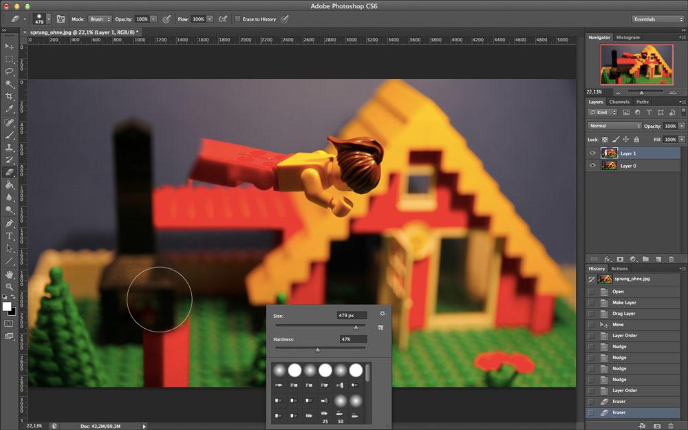 Sprünge und Flüge mit Adobe Photoshop
