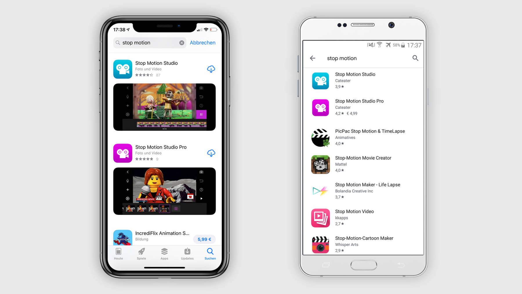 Stop Motion Apps im App Store und Play Store